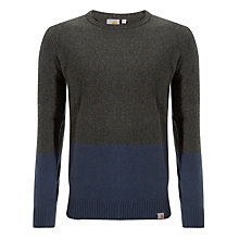 Buy Carhartt Welsh Wool Knitted Jumper, Dark Marlin Online at johnlewis.com