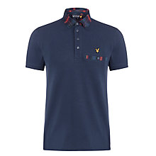 Buy Lyle & Scott Tartan Collar Polo Shirt, New Navy Online at johnlewis.com