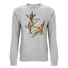 Buy Carharrt Swarm Duck Crew Neck Jumper, Grey Heather Online at johnlewis.com