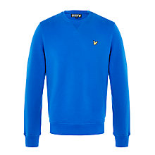 Buy Lyle & Scott Crew-Neck Cotton Sweatshirt, Duke Blue Online at johnlewis.com