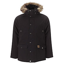 Buy Carhartt Trapp Water Repellent Parka, Black Online at johnlewis.com