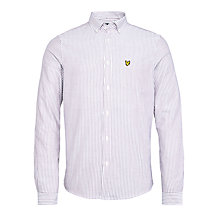 Buy Lyle & Scott Oxford Bengal Stripe Shirt, Claret Jug Online at johnlewis.com