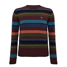 Buy Gant Multi Striped Lambswool Jumper, Multi Online at johnlewis.com