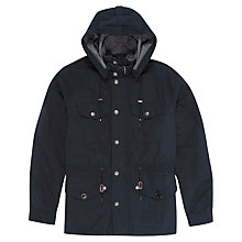 Buy Hackett London Mountain Parka Jacket, Navy Online at johnlewis.com
