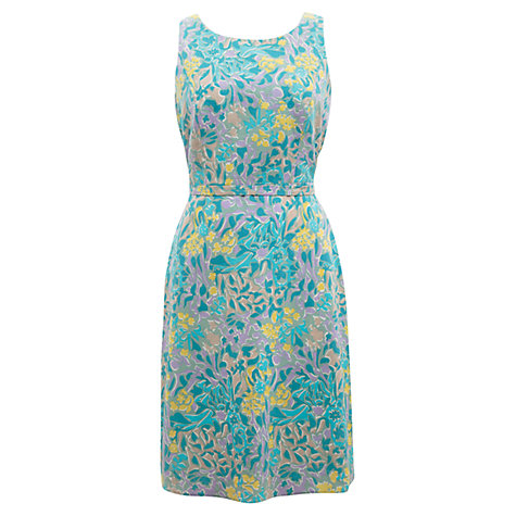 Buy East Hamilton Print Dress, Stone Online at johnlewis.com