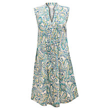 Buy East Watercolour Paisley Dress, Pearl Online at johnlewis.com