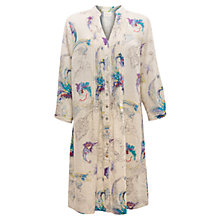 Buy East Dream Print Linen Dress, Pearl Online at johnlewis.com