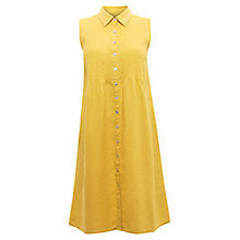 Buy East Pintuck Linen Dress, Daffodil Online at johnlewis.com