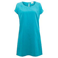 Buy East Scoop Neck Linen Dress, Aqua Online at johnlewis.com