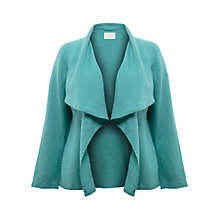 Buy East Waterfall Linen Jacket, Dark Duck Egg Online at johnlewis.com