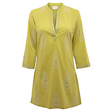 Buy East Ingot Print Kurta Top, Kiwi Online at johnlewis.com