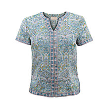 Buy East Ballamy Print Blouse, Duck Egg Online at johnlewis.com