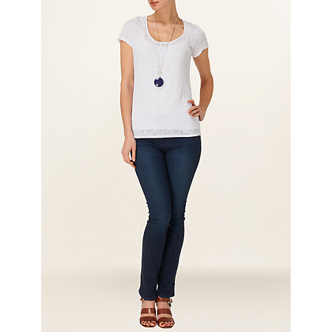 Buy Phase Eight Becky Burnout Top, White Online at johnlewis.com