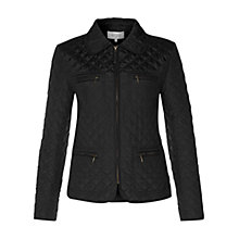 Buy Hobbs Molly Quilted Jacket, Black Online at johnlewis.com