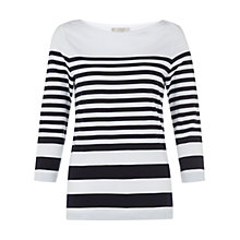 Buy Hobbs Casey T-Shirt, White Online at johnlewis.com
