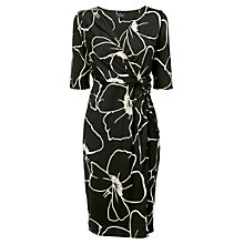 Buy Phase Eight Molly Print Dress, Black/Ivory Online at johnlewis.com
