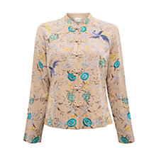 Buy East Florella Embroidered Jacket, Stone Online at johnlewis.com