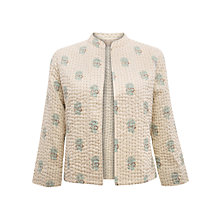 Buy East Botanist Gudri Jacket, Pearl Online at johnlewis.com