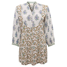 Buy East Kew Print Tunic Top, Pearl Online at johnlewis.com