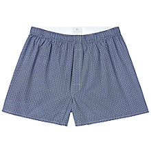 Buy Sunspel Diamond Woven Boxers, Navy Online at johnlewis.com