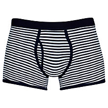 Buy Sunspel Stripe Egyptian Cotton Trunks, Pack of 2, Navy/White Online at johnlewis.com