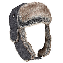 Buy Barbour Bolam Tweed Trapper Hat, Black Online at johnlewis.com