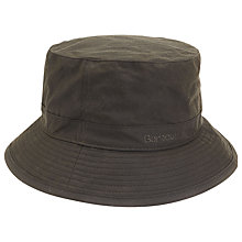 Buy Barbour Waxed Sport Bucket Hat, Olive Online at johnlewis.com