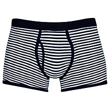 Buy Sunspel Stripe Low Waist Egyptian Cotton Trunks, Navy/White Online at johnlewis.com