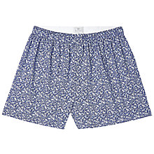 Buy Sunspel Leaves Woven Boxers, Navy/White Online at johnlewis.com