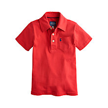 Buy Little Joule Boy's Tom Polo Shirt, Red Online at johnlewis.com