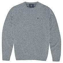 Buy Hackett London Crew Neck Lambswool Jumper, Grey Online at johnlewis.com
