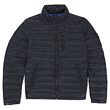 Buy Hackett London Aston Martin Packable Down Puffer Jacket, Black Online at johnlewis.com