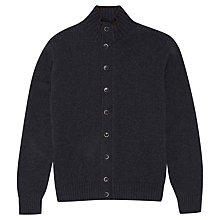 Buy Hackett London Chunky Knit Cardigan, Navy Online at johnlewis.com