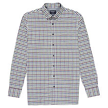 Buy Hackett London Twill Gingham Check Shirt, Blue/Green Online at johnlewis.com
