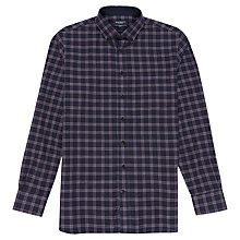 Buy Hackett London Twill Plaid Check Shirt, Navy Online at johnlewis.com