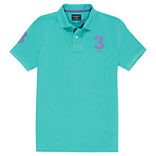 Buy Hackett London New Classic No. 3 Polo Shirt, Aqua Online at johnlewis.com