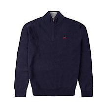 Buy Hackett London Half Zip Lambswool Jumper Online at johnlewis.com