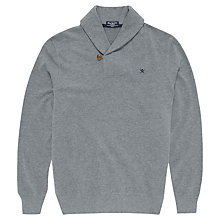 Buy Hackett London Brushed Cotton Shawl Collar Sweatshirt Online at johnlewis.com