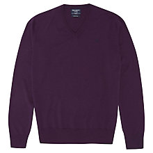 Buy Hackett London Merino V-Neck Jumper Online at johnlewis.com