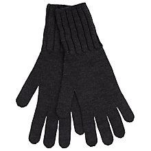 Buy John Smedley Solent Gloves, Charcoal Online at johnlewis.com