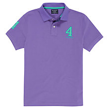 Buy Hackett London New Classic Numbered Polo Shirt, Purple Online at johnlewis.com