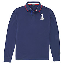 Buy Hackett London Number Long Sleeve Polo Shirt Online at johnlewis.com