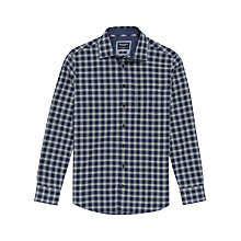 Buy Hackett London Multi Trim Soft Check Shirt, Navy Online at johnlewis.com