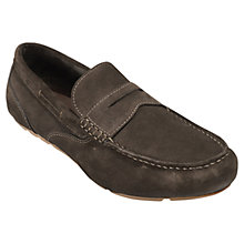 Buy Rockport Greenbrook Suede Loafers, Chocolate Online at johnlewis.com