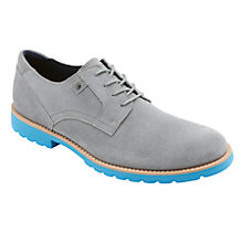 Buy Rockport Leather Plain Toe Derby Shoes, New Griffin Grey Online at johnlewis.com