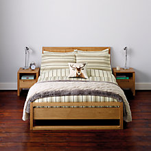 Buy John Lewis Super Cosy Wide Stripe Flannelette Bedding Online at johnlewis.com