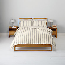 Buy John Lewis Super Cosy Thin Stripe Flannelette Bedding Online at johnlewis.com