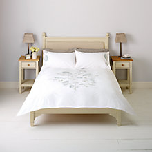 Buy John Lewis Acacia Embroidered Duvet Covers and Pillowcases, Eau De Nil Online at johnlewis.com