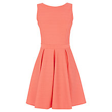 Buy Warehouse Textured Strappy Dress, Coral Online at johnlewis.com