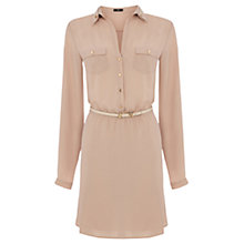Buy Oasis Pocket Shirt Dress, Stone Online at johnlewis.com